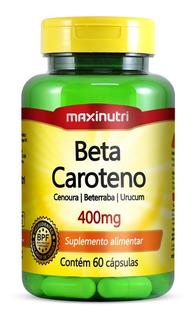 Beta Caroteno Maxinutri 400mg Com 60 Cápsulas