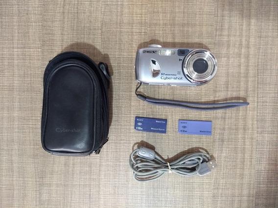 Câmera Digital Sony Cyber-shot Completa Usada No Estado