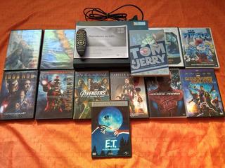 Dvd Samsung E360+pack Peliculas Marvel/infantiles Sin Uso!!!