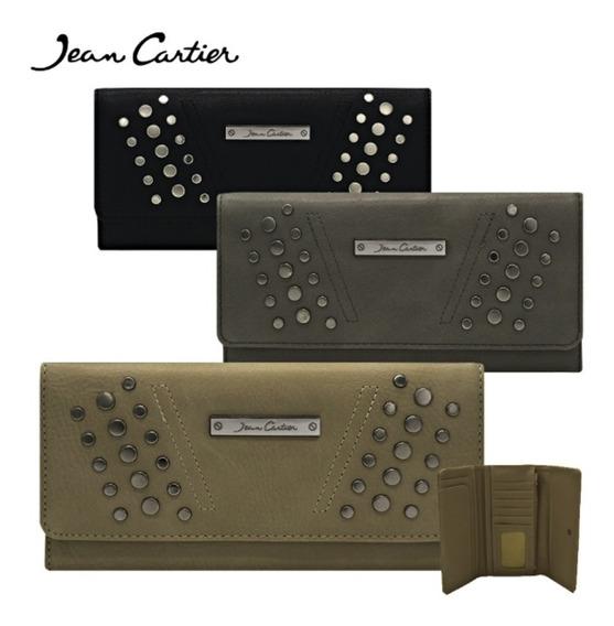 Billetera Mujer Importada Jean Cartier Original Maxi Fichero