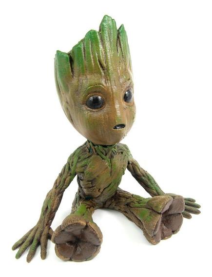 Boneco Baby Groot 15cm Pintado Realista (guardiões Galáxias)
