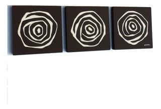 Cuadros Abstractos Moderno Cafe Chocolate Blanco Rosas