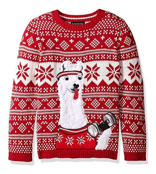Suéter Navidad Christmas Ugly Sweater Feo Llama Gym Mediano