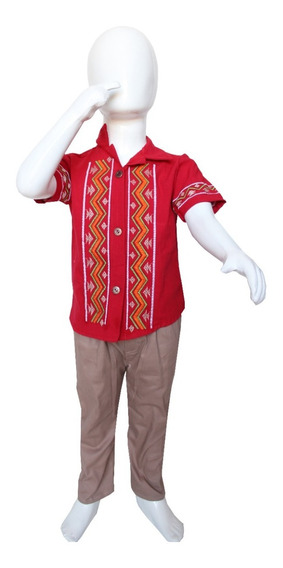 Conjunto Traje Formal Bebé Niño Guayabera Manta Pantalon