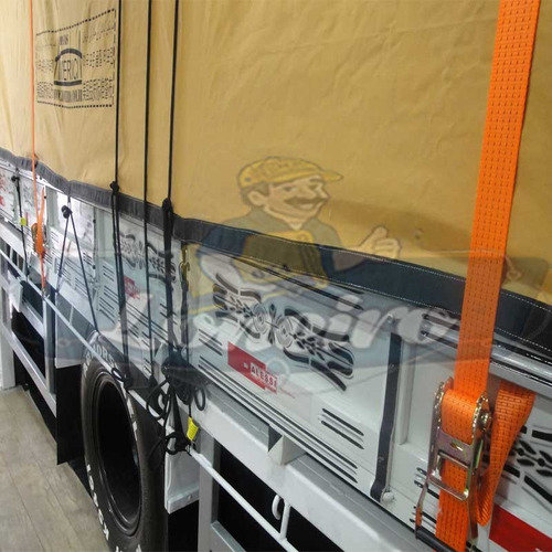 Lona Encerado Premium 12x3 Ripstop Areia Caminhão Carga Seca