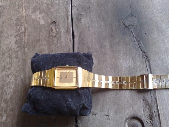 Relogio Seiko Quartz - Plaquet De Ouro