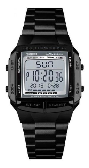 Relógio Unissex Aço Inox Com Garantia E Nota Fiscal Promoção