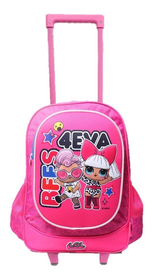 Mochila Carro Escolar Lol Surprise Original Grande 18´