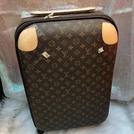 Mala De Viagem Louis Vuitton Monogram Rígida Couro Premium