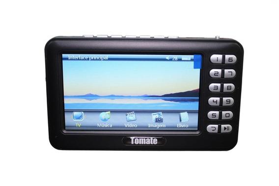 Tv Digital Portátil Hd Tela 4.3 Monitor Usb Sd Rádio Mtm403