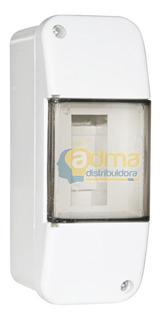 Caja Para Térmica 2 Modulos Exterior O Embutir Con Tapa
