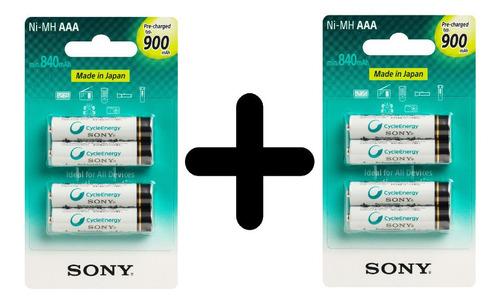 Pilha Recarregavel Aaa Sony C/8 Unidades