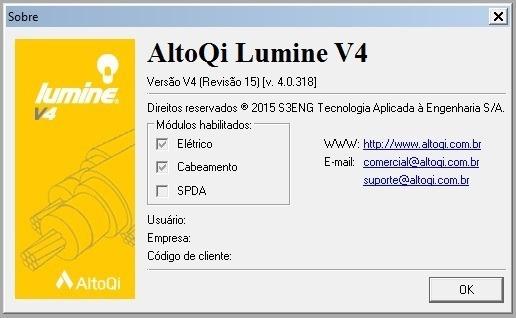 Software Lumine V4 - Instalações Elétricas Prediais