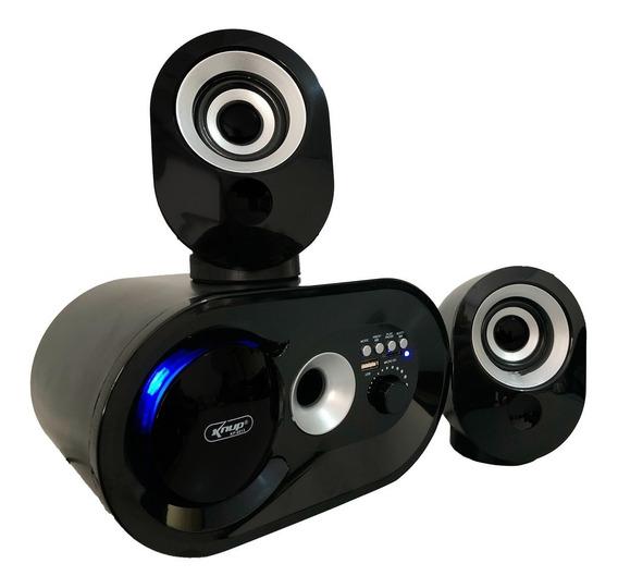 Caixa De Som 2.1 Potente 16w Bluetooth Pc Usb Sd Subwoofer
