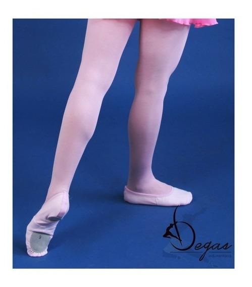 Zapatillas Para Danza Ballet Media Punta Suela Partida Lona
