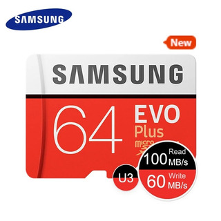 Cartão Micro Sd Sdxc Sansung Evo 64gb 100mb/s Uhs-i U3