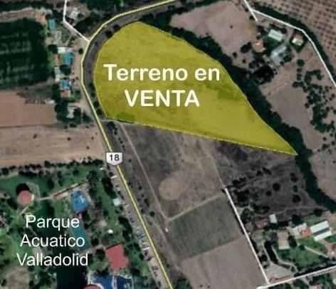 Terreno Valladolid, En Esq Enmallado Con Agua, Doble Acceso