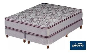 Conjunto Sommier Y Colchon Piero Domani Pillow 160x200 Queen