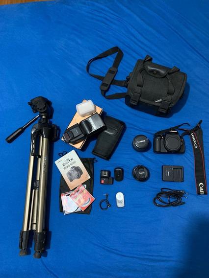 Câmera Cânon T3i 2 Lentes + Flash + Tripé