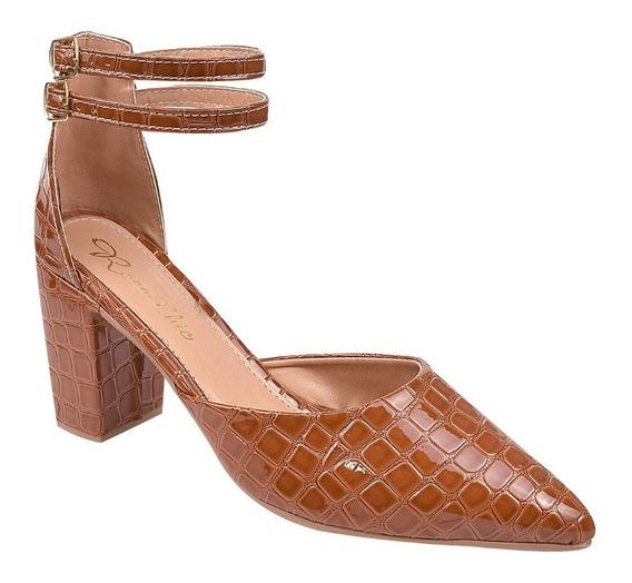 Sapato Feminino Scarpin Salto 6 Cm Rosa Chic (48-003)