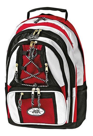 Brg Backpack Casual Tela Plastico Textil Rojo Niño N4582 Udt