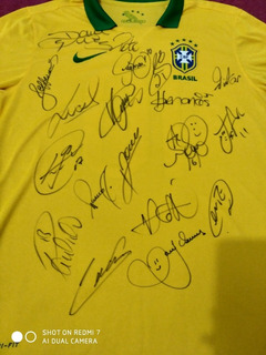 Camisa Seleção Brasileira Autografada