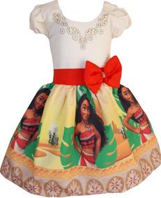 Vestido Moana Adulta + Tiara