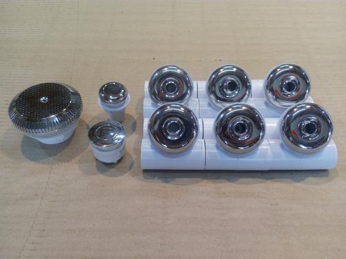 Kit Hidromasaje 6 Jets + Pulsador + Regulador + Filtro Pelos