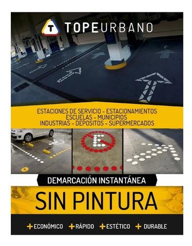Imagen 1 de 1 de Kit Linea De Stop Tacha Reductor Reflectivo Vial Lomo Burro