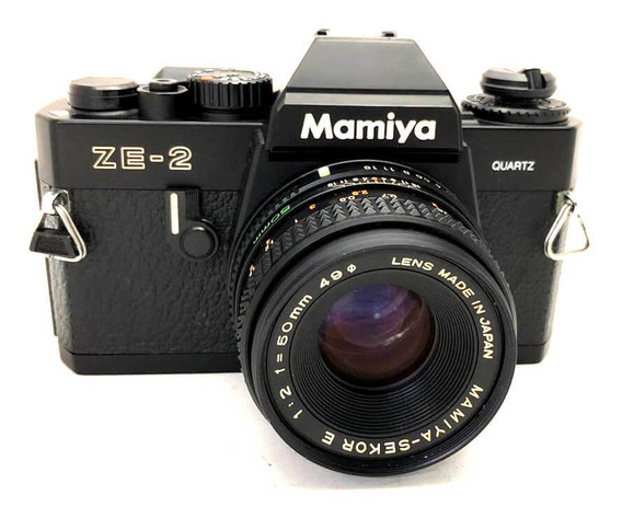 Câmera Mamiya Ze-2 Quartz Com Lente 50mm Usada