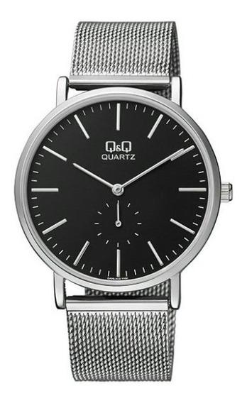 Reloj Q&q Citizen Acero Correa Tejida Mod. Qa96j222y