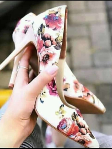 Scarpin Floral Feminino Hm
