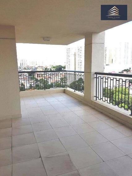 Apartamento No Condomínio Solon Fernandes, 137m², 2 Vagas, Andar Alto. - Ap0421