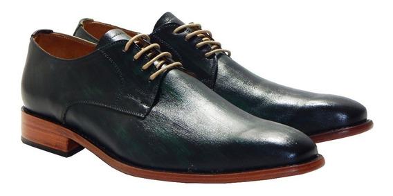 Zapatos Vestir Merida Emerald Color Priamo Italy