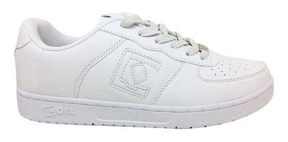 Zapatilla Qix Hollywood Low Jr White Zpk4091a Niños