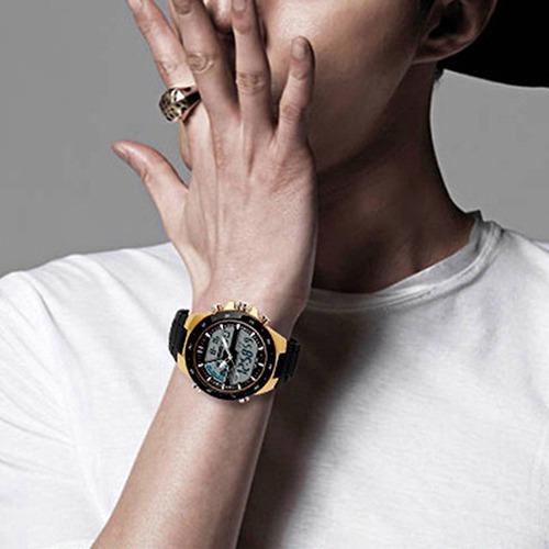 Relógio Masculino Combo 3 Uni Kit Dourado Barato Promoção