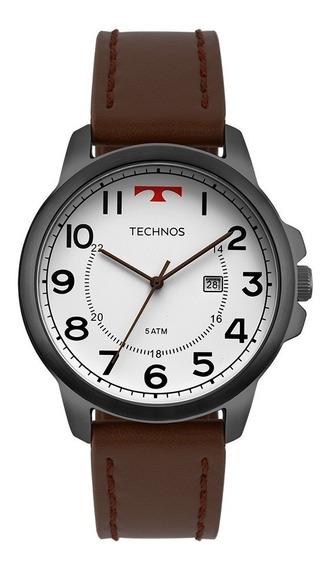 Relógio Technos Masculino Classic 2115mpb/2b Preto Couro
