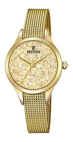 Relógio Festina Feminino Aço Dourado