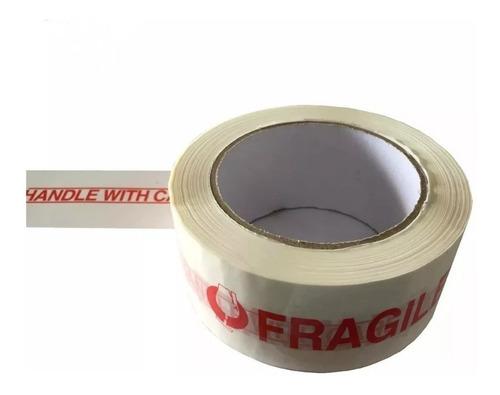 Cinta Adhesiva Para Embalar Fragil 45 Mic X48mm X 100m Largo