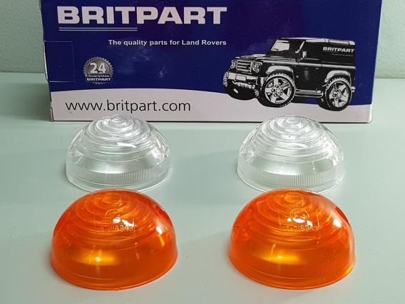 Kit 4 Lentes Lanternas Dianteiras Land Rover Defender !