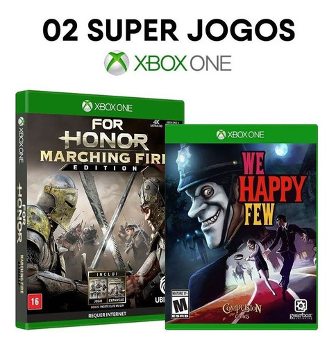 For Honor Marching Fire + We Happy Few Xbox One [ Lacrados ]