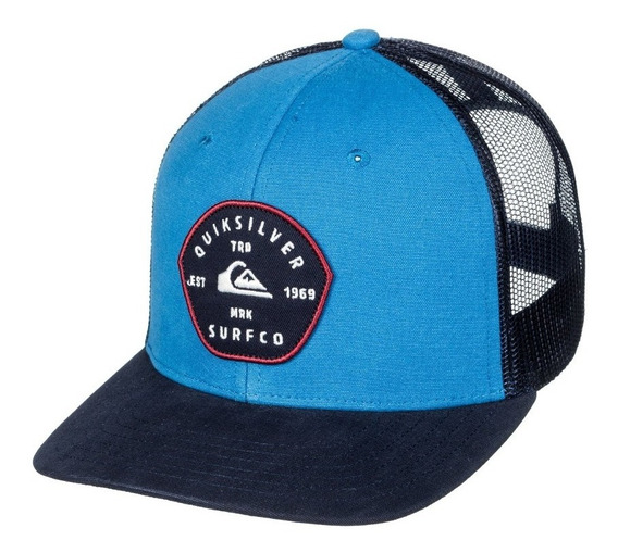 Gorra Trucker Quiksilver Blocked Out Blue