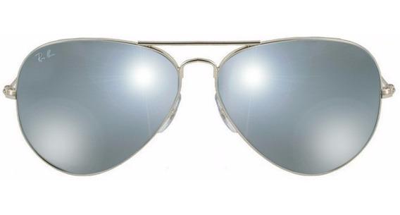 Lentes De Sol Ray Ban Rb3025 W3277 Plata/gris Unisex Aviador