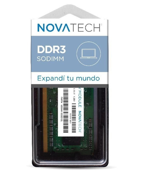 Memoria Sodimm Novatech 2gb Ddr3 1333 Pc3-10600s Notebook Netbook