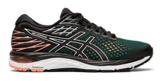 Zapatillas Asics Gel Cumulus 21 Mujer Verde /negro Running