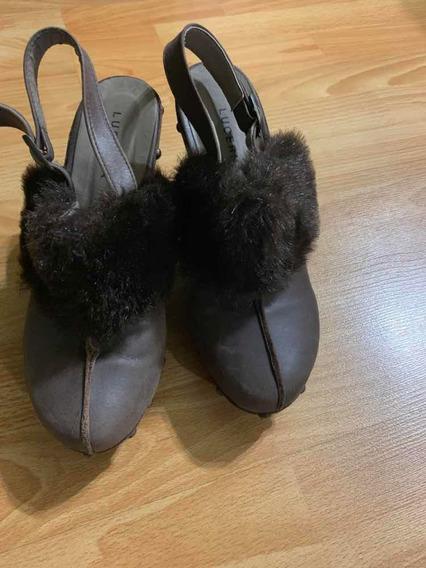 Zapatos Con Tachas Impecables Lucerna Con Piel Totalmente De