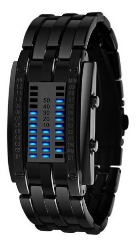 Relógio Pulso Feminino Preto Digital Led Não A Prova D