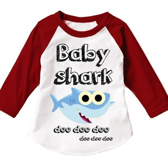 Paquete De 9 Playeras Familiar Baby Shark