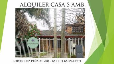 Alquiler Casa 5 Ambientes En San Miguel - B° Balzaretti