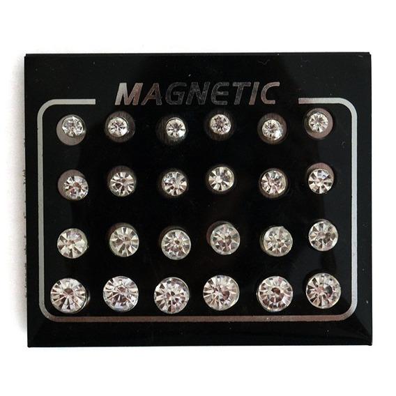 6 Aros Iman - Magnéticos Sin Perforación - Strass